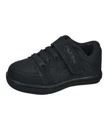 Black Adjustable-Strap Sneaker