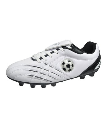 White & Black Soccer Cleats
