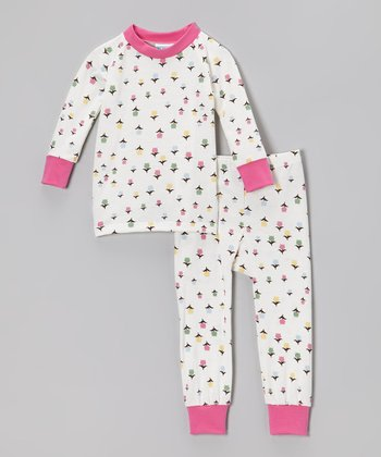 Pink & White Flower Pajama Set - Infant