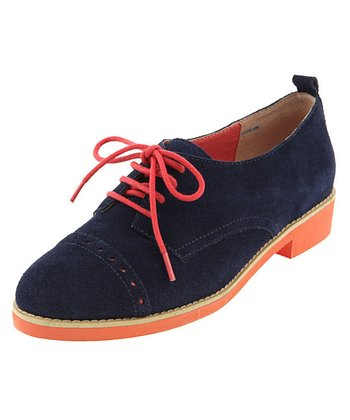 Navy & Orange Bora Oxford