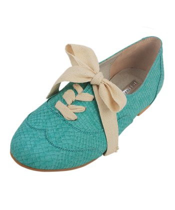 Mint Bunny In Wonderland Lace-Up Shoe - Women