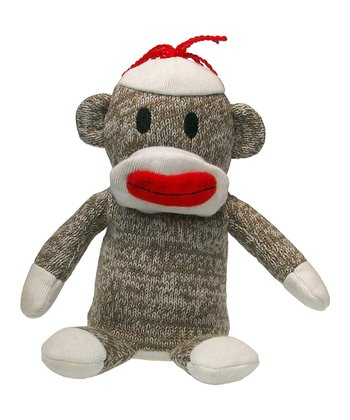 Talking Pipsqueak Sock Monkey Plush Toy