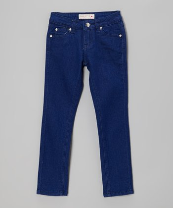 Royal Blue Skinny Jeans - Girls