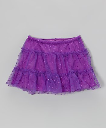 Purple Heart Glitter Tulle Skirt