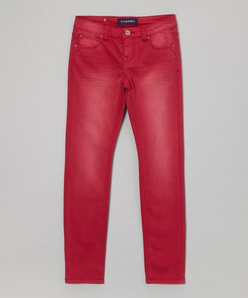 Candy Red Tulsa Skinny Jeans - Girls