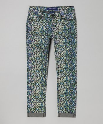 Green Day Hi-Light Roll Skinny Jeans - Girls