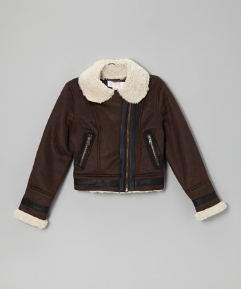 Brown Midweight Fashion Bomber Jacket
