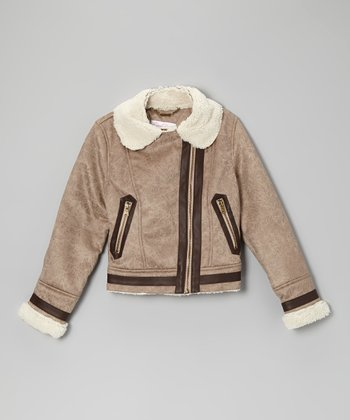Taupe Midweight Fashion Bomber Jacket
