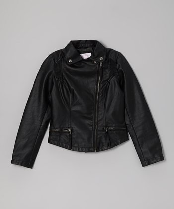 Black Midweight Fashion Jacket