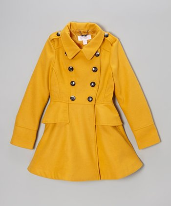 Mustard Button Midweight Fashion Jacket