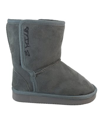 Gray Faux Suede Boot