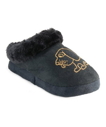 Black Puppy Slipper