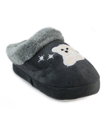 Gray Polar Bear Slipper