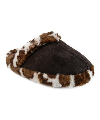 Brown Animal Trim Slipper