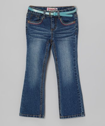 Dark Stone Wash Girly Bootcut Jeans