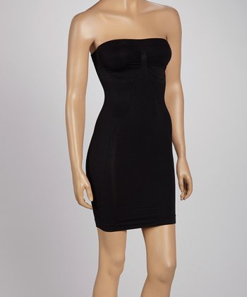 Black Full Control Strapless Slip