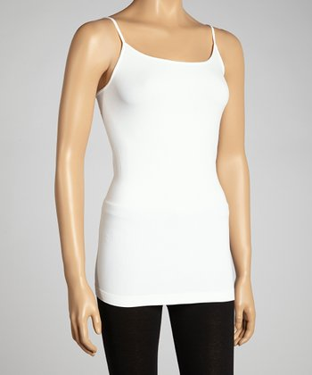 White Basic Long Camisole