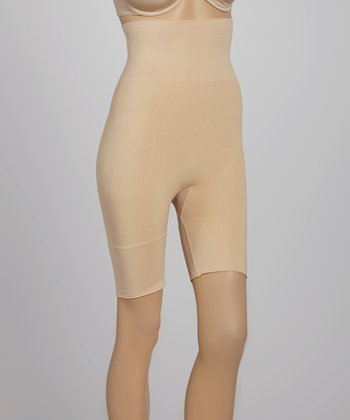Nude Seamless High-Waisted Thigh Shaper Shorts