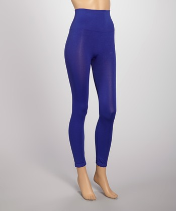 Cobalt Blue Seamless Shaper High-Waisted Leggings
