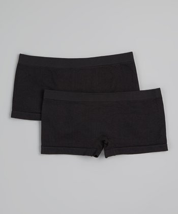 Black Seamless Boyshorts