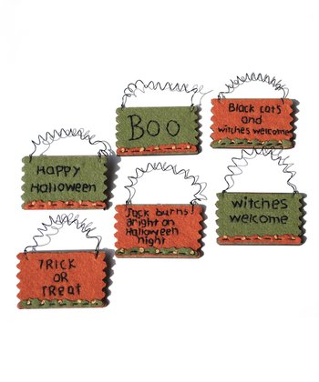 Halloween Wall Art Ornament Set