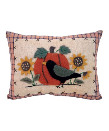 Bird Pumpkin Throw Pillow