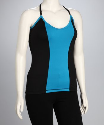 Blue Stripe Plus-Size Tank