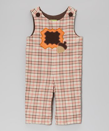Fall Plaid Acorn Patch Playsuit - Infant & Toddler