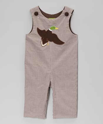 Brown Gingham Mallard Playsuit - Infant & Toddler