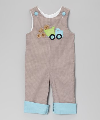 Brown Gingham Cookie Truck Playsuit - Infant & Toddler