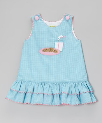 Aqua Gingham Cookies & Milk Jumper - Infant, Toddler & Girls