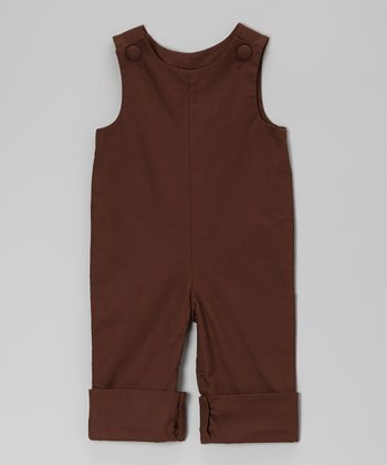 Brown Basic Playsuit - Infant & Toddler