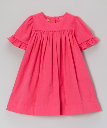 Hot Pink Corduroy Claire Dress - Infant, Toddler & Girls