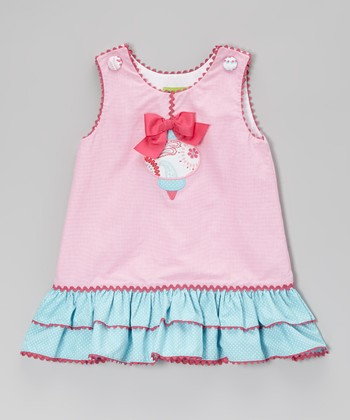 Pink Gingham Ornament A-Line Dress - Infant, Toddler & Girls