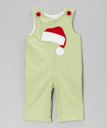 Green Santa Hat Overalls - Infant & Toddler