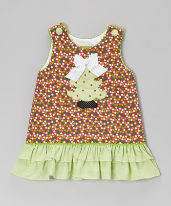 Christmas Dot Tree Ruffle A-Line Dress - Infant, Toddler & Girls