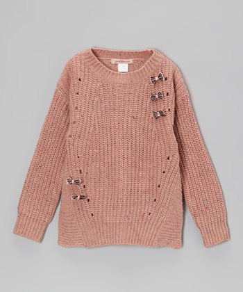 Pink Bow Wool-Blend Sweater - Toddler