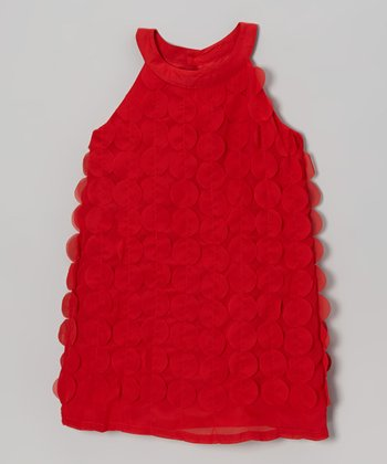 Red Dot Yoke Dress - Toddler & Girls