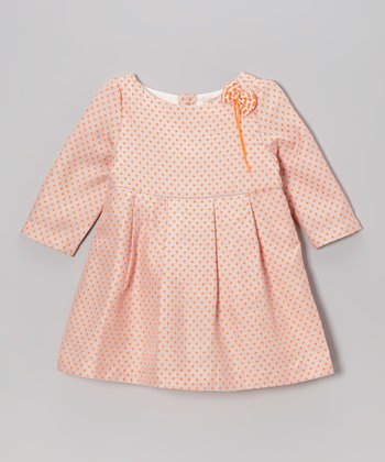 Pink Polka Dot Babydoll Dress - Girls