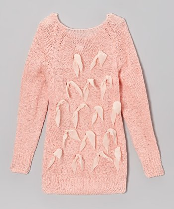 Pink Bow Sweater - Toddler & Girls
