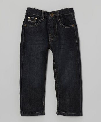 Dark Wash Straight-Leg Jeans - Toddler & Boys
