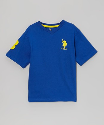 Cactus Flower 'USPA' V-Neck Tee - Toddler & Boys