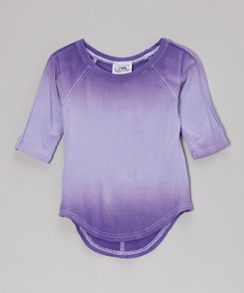 Purple Dip-Dye Raglan Tee - Infant