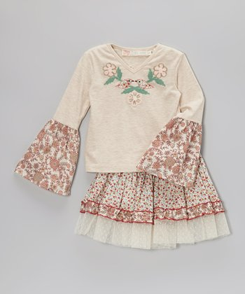 Sienna Bird Sophie Top & Skirt - Toddler & Girls