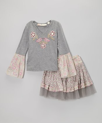 Blush Bird Sophie Top & Skirt - Toddler & Girls