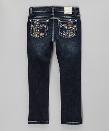 Medium Wash Lia's Paisley Jeans - Girls