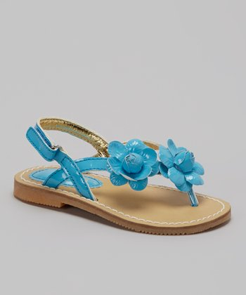 Blue Flower Sandal