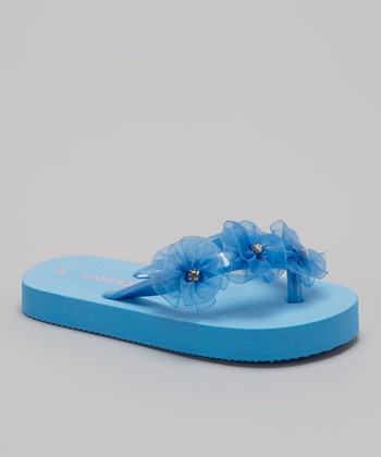 Blue Flower Flip-Flop - Kids