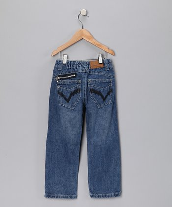 Light Wash V-Pocket Jeans - Infant, Toddler & Boys