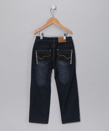 Dark Wash Zigzag Pocket Jeans - Infant, Toddler & Boys